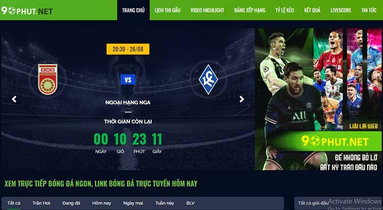 xem trực tiếp bóng đá 90Phut TV